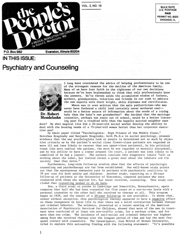 Psychiatry and Counseling