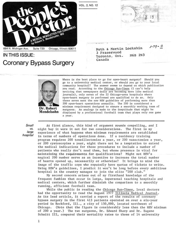 Coronary Bypass Surgery