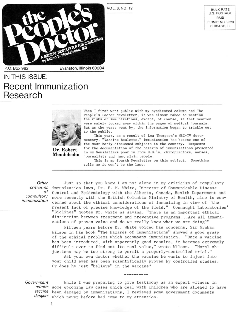 Recent Immunization Research