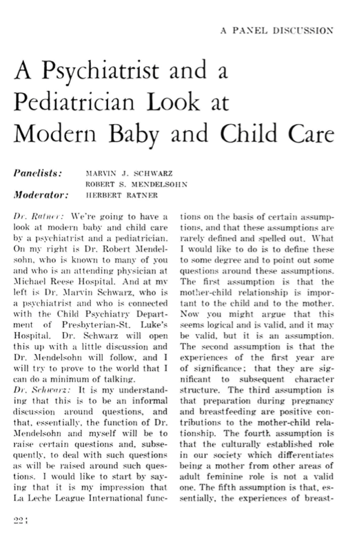 A Psychiatrist and a Pediatrician Look at Modern Baby and Child Care and The Disturbed Child: Help on the Horizon