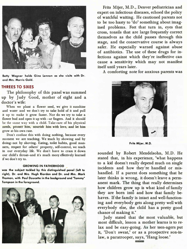 "Brief articles from La Leche League newsletter mentioning R.S. Mendelsohn (under ""Threes to Sixes"" and ""Mothers and Doctors"""