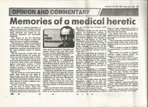 Herb Denenberg Obituary of Robert Mendelsohn