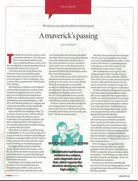 A Maverick's Passing, by Bryan Hubbard
